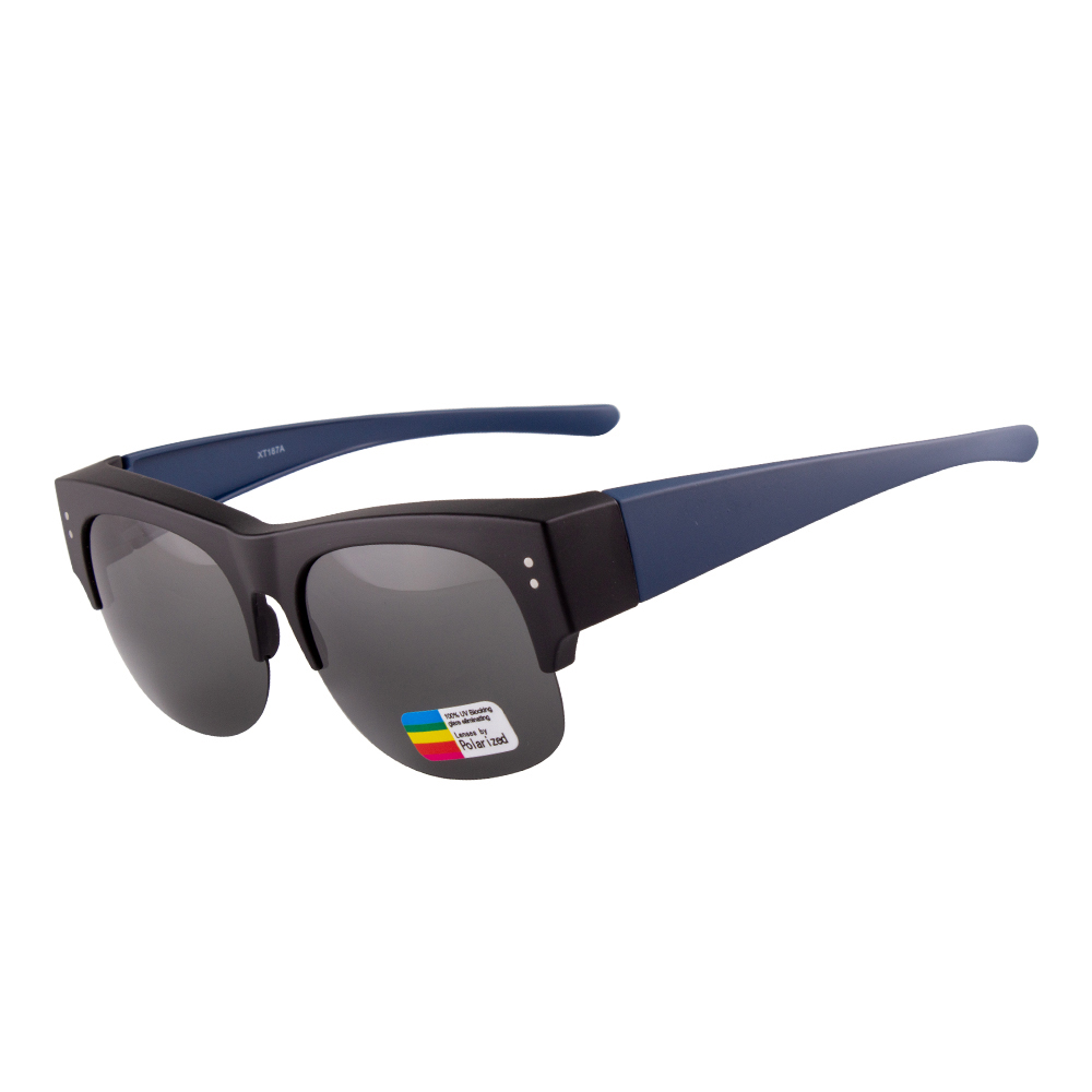 Hd Rimless Round Polarized Fitover Sunglasses for Men Women