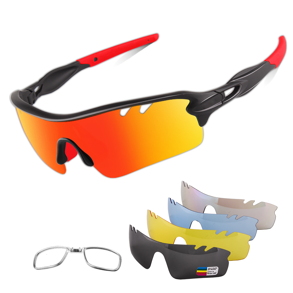 Why do cyclists wear sports sunglasses